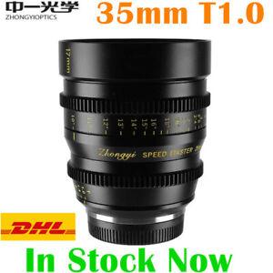 ZHONGYI 35mm T1.0 Large Aperture Cinema Lens For M43 Canon EOSR Fujifilm Sony E