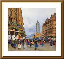 Counted Cross Stitch Kit NOVA SLOBODA СР4240 - Legends of Paris. Saint-Jacques