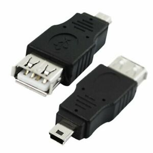 Mini USB Male to USB Female Type A Adapter Connector Converter 5-Pin OTG Charger