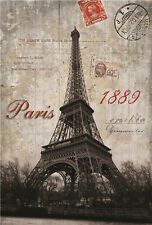 1000 Pieces Adult Puzzle Retro Poster Eiffel Tower Jigsaw Educational Toys Gift