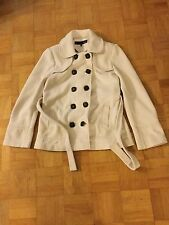 Next Jacket Coat Outdoor Cream 12 Military Large Buttons Belt
