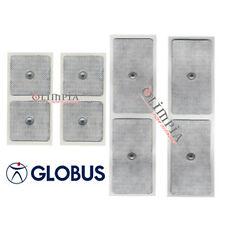 GLOBUS 8pz ELETTRODI UNIVERSALI Bottone Cilp - 1 bst 5x5cm + 1 bst 5x10cm