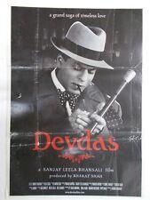 DEVDAS 2002 SHAH RUKH KHAN JACKIE MADHURI AISHWARYA Rare Poster Bollywood
