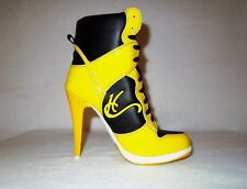 Womens High Heel Sneakers, Beautiful quality yellow stiletto ca-006