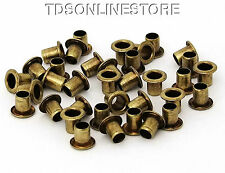 3/16 Inch Diameter Antique Brass Plated Eyelets Package of 36