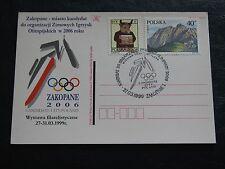 postcard, postmark XX Olympic Winter Games Candidate City Poland Zakopane 2006