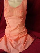 70 er * bildschön * Nylon * Unterrock * orange * 40