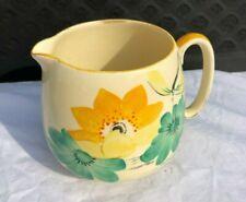 Crown Devon Fieldings Floral Hand Painted Art Deco Jug