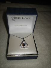 New In Box Brilliance Crystals From Swarovski Crystals Necklace Purple Stone