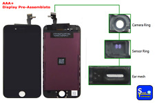 DISPLAY LCD + TOUCH SCREEN NERO PER APPLE IPHONE 6 AAA+ VETRO SCHERMO ASSEMBLATO