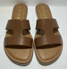 Women's Unisa Sandals Shoes Size 7.5 Slip On Cognac Brown Strap New Ships Free