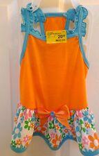 NWT Top Paw Pet Orange Ruffled Skirt Summer Dog Dress Size Medium Summer