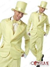 70s Funky Yellow Tuxedo Men Costume Adult Fancy Dress Up Halloween Party Outfit