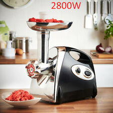 Powerful Electric Mincer Meat Grinder Sausage Maker Multiple Attachments 2800W