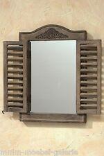 Spiegel mit Lamellen klappbar Fensterladen Holz massiv Garderobenspiegel Shabby