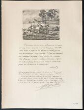 1926 - Lithographie citation de carde, Garbit (Guerre 14 18)
