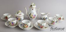 Herend  Fruit & Flowers Coffee Set For Six Persons 17 Pieces BFR
