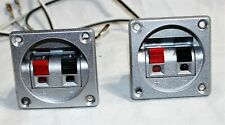 Silver Speaker Input Terminal Wire Connector. Subwoofer Box cup Connection