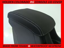 HOLDEN COLORADO RG & RG7 NEOPRENE CONSOLE LID COVER ( WETSUIT FABRIC )