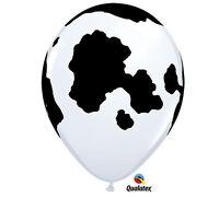 "Holstein Cow Latex Balloons, Farm Birthday,11"" Qualatex Party Decor, Petting Zoo"