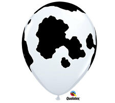 "Holstein Cow Latex Balloons, Farm Birthday,11"" Qualatex Party Decor, Petting Zoo"