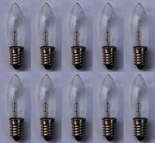 10 Stück 12 V 3 W E10 Spitzkerze Topkerze Riffelkerze Glühlampe für Schwibbogen
