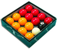 Aramith Red and Yellow Pool Balls Premier UK Set