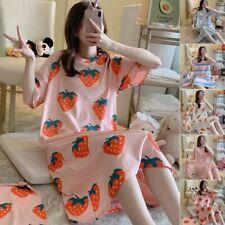 Женский короткий рукав негабаритные сна рубашка ночная рубашка 100% хлопок, ночную рубашку платье