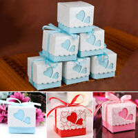 100x  Wedding Favours Sweet Cake Gift Candy Boxes Decorations 5cm Small