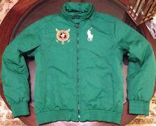 Ralph Lauren St Moritz Hooded Equestrian Big Pony Jacket Size Medium Brand New !