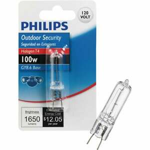 Philips 100W 120V Clear GY8.6 Base T4 Halogen Special Purpose Light Bulb 416685