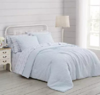 Prairie by Rachel Ashwell Quilted Top Comforter Set, 3 pc Full/Queen Blue