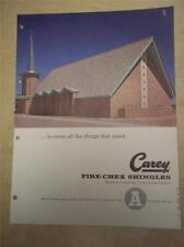 Philip Carey Mfg Catalog~Fire-Chex Shingles~Asbestos~1961