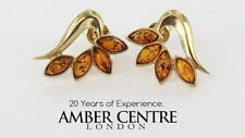 Italian Made Classic Baltic Amber Studs In 9ct Gold GS0106 RRP£200!!!