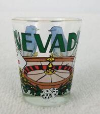 Nevada Shot Glass Poker Whiskey mountain bluebird poker cards sagebrush roulette