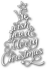 Memory Box WE WISH YOU ELEGANT SCRIPT thin metal die, Christmas, Made in USA