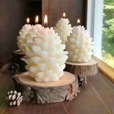 3D Christmas Pine Cone Silicone Candle Mold DIY Beeswax Aromatherapy Candle Mold
