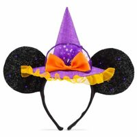 Disney Halloween Mickey Ears Light Up Minnie Mouse Witch Hat Ears