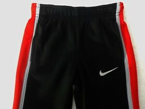 """NWT Nike Boys """"THERMA-FIT"""" Black and Red Fleece Jogger(Sizes 4, 5) NEW"""