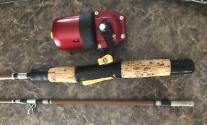 True Temper Uni-Spin Reel In A Rod Combo Fishing Rod N Reel Scarce Spinning Reel