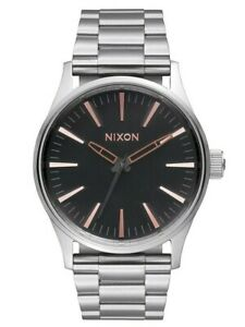Nixon Sentry 38 SS Gray Rose Gold A450-2064 38mm Unisex Watch FREE EXPRESS POST