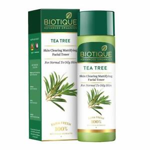 Tea Tree Skin Mattifying Face Toner From Biotique(120ml) For Normal To Oily Skin