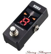 Korg Pitchblack Pb-Mini Mini Pedal Afinador Cromático, Negro