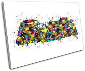 Abstract CDJ Decks Music Bar DJ Club SINGLE CANVAS WALL ART Picture Print