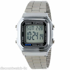 Casio A178WA-1A Men's Metal Band Alarm Chronograph Illuminator Digital Watch