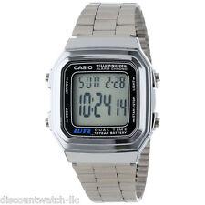 Casio A178WA-1A Men's Metal Band Alarm Chronograph Illuminator Digital Watch