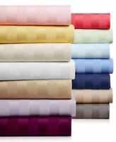 1000tc Egyptian Cotton Extra Deep Pocket 4 PCs Sheet Set King Size Stripe Colors