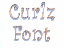 CURLZ FONT WOODEN LETTERS lettering words craft card wall art door sign plaque