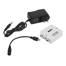 Mini RCA AV to HDMI Converter Adapter Composite AV2HDMI Converter 1080P DVD#DB