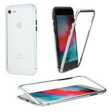 SAMSUNG GALAXY A40 Metal Aluminium Glas Magnetic Handyhülle Tasche Case SILBER